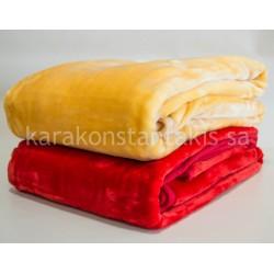 Plain colour single Blanket Deluxe