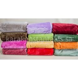 Plain colour velour single Blanket