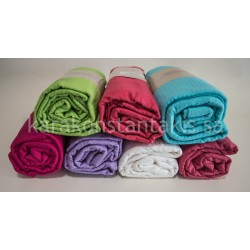 Summer single plain colour blanket