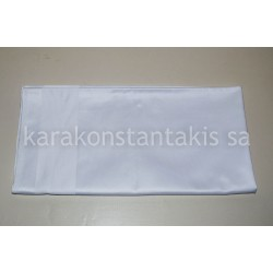 White Satin band table covers