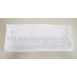 Cotton white hotel face Towel 500gr/m2 with Greek border