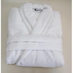White hotel Bathrobe