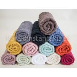 3pieces set plain colour towels