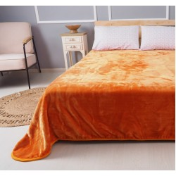 Plain colour extra double Blanket Deluxe