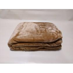 Velour double plain colour Blanket