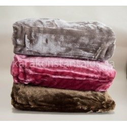 Velour double plain colour Blanket