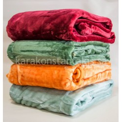 Plain colour velour single Blanket